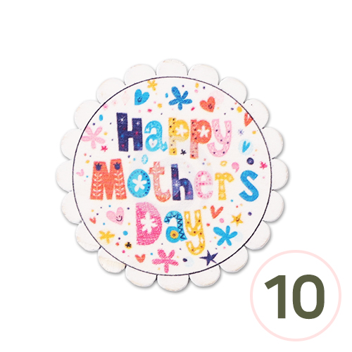 SB-183 *우드장식*Happy Mother's Day* 54mm (10개입) Z-00-097