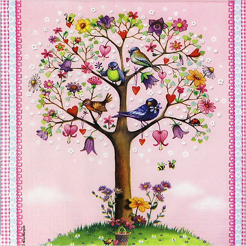 1516 수입냅킨 33*33cm Love Tree