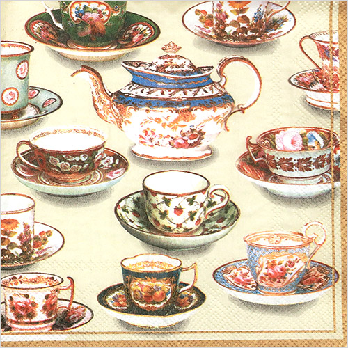 냅킨아트 V-L5660 FIVE O CLOCK TEA cream 냅킨20매 33×33cm  2839